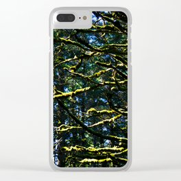 Moss & Branches Clear iPhone Case