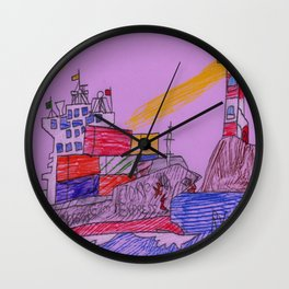 Lighthouse Warning Wall Clock