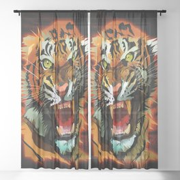 Tiger Roar Sheer Curtain