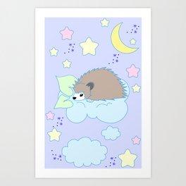 Hedgehog in the Sky Art Print