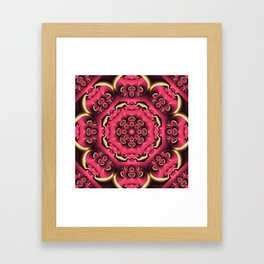 Fantasy flower kaleidoscope with optical effects Framed Art Print