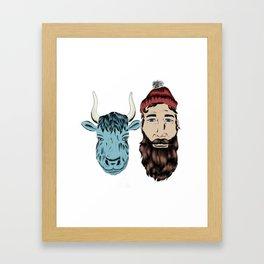Paul and Babe Framed Art Print