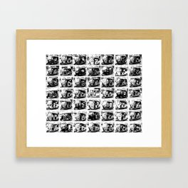 Sri Lankan Tuc Tuc collage Framed Art Print