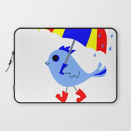 Blue Bird Think Positive Image Laptop Sleeve