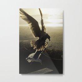 Rockaway Gulls Metal Print