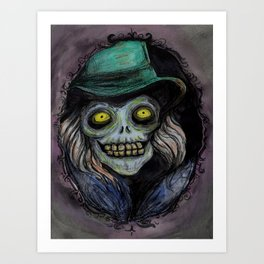 Hatbox Ghost (portrait--light version) Art Print