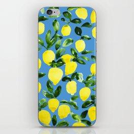 Blue Lemons iPhone Skin