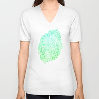 zentangle V-neck T-shirts featuring Zentangle by Riaora Creations