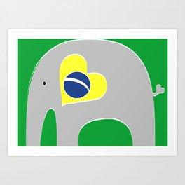 Brazilian Elephant 2 Art Print