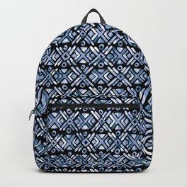 Sonoran Stripe - Indigo Backpack