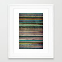 striped Framed Art Prints featuring Striped by Sharon Johnstone