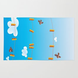 Clouds and Birds Rug