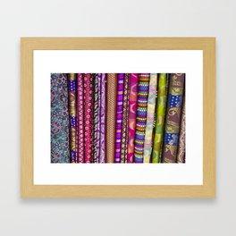 Sari Textiles from Dubai Market Framed Art Print
