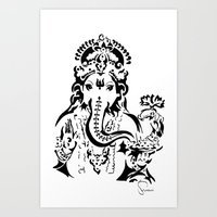 ganesh Art Prints featuring Ganesh by ShivaR
