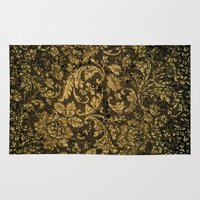 decorative Area & Throw Rugs featuring Decorative damask by nicky2342