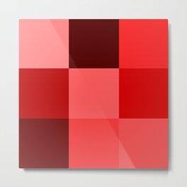 Red Blocks Metal Print