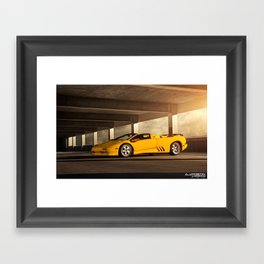 Lamborghini Diablo VT Roadster Framed Art Print