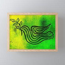 Original Linocut Art By Gina Lee Ronhovde Framed Mini Art Print