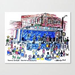 Summer Music On Trade Canvas Print