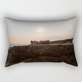 la mine france aerial drone shot cliff people sunset Rectangular Pillow