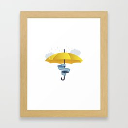 Yellow Umbrella HIMYM Lebenslangerschicksalsschatz Framed Art Print