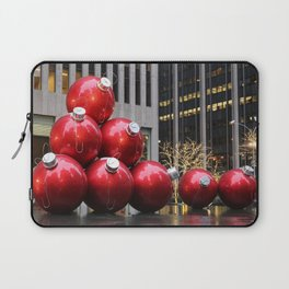 Huge Christmas Ball Ornaments in NYC Laptop Sleeve