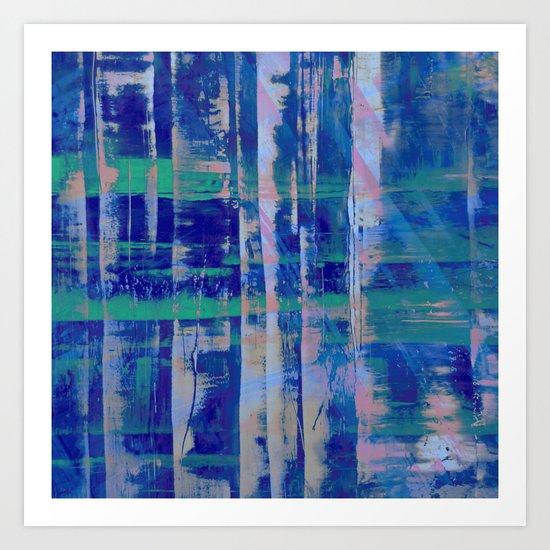 Broken Blue Art Print