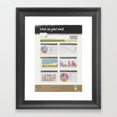 Backup your Soul Framed Art Print