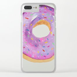 Doughnut with Sprinkles Clear iPhone Case