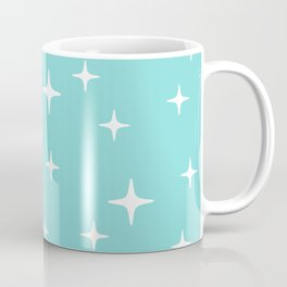 Mid Century Modern Star Pattern 731 Turquoise Coffee Mug