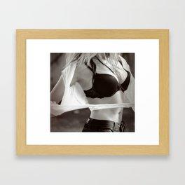 Sexy girl Framed Art Print