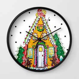 Gingerbread Welcome Wall Clock