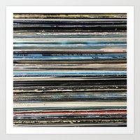 Overhead at the Record Store Art Print