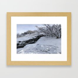 Homestead Crater Framed Art Print