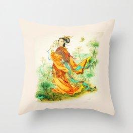 Chines Princess Throw Pillow
