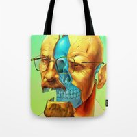 breaking Tote Bags featuring Breaking Bad / Broken Bad by Mirco