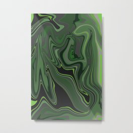 Distorted stripes in colour 1 Metal Print