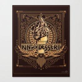 King of Desserts - AVB Collection Canvas Print