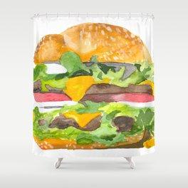 Bulging Burger Shower Curtain
