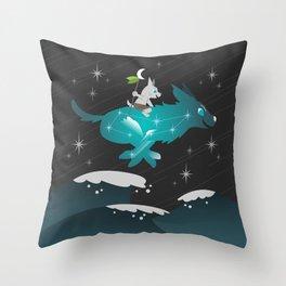 Wiki and Yuki - Crossing Waves Throw Pillow