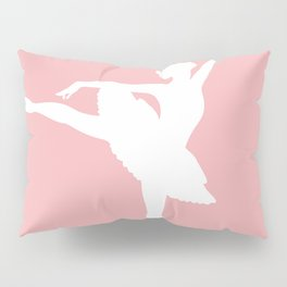 Pink and white Ballerina Pillow Sham