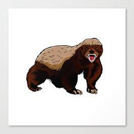 Honey badger illustration Canvas Print