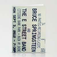 bruce springsteen Stationery Cards featuring Bruce Springsteen & the E Street Band: Rain or Shine by Christine Leanne