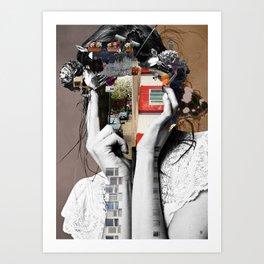 Crazy Woman - LisaLaraMix Art Print