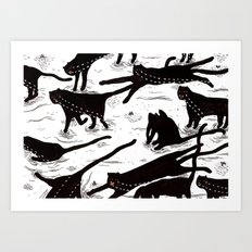 ze crying katz Art Print