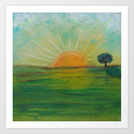 Peace of Sunrise Art Print