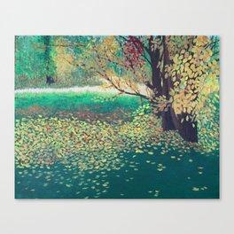 Back Yard Landscape Canvas Print