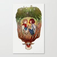 princess mononoke Canvas Prints featuring Mononoke by Niklisson