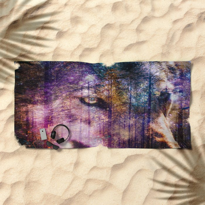 Wolf Forest : These Are My Forests Beach Towel