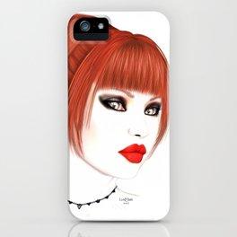 Cassia - Redhead Beauty iPhone Case
